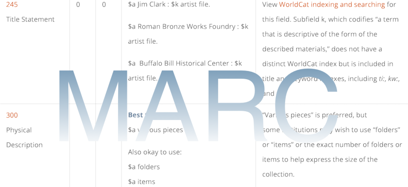 Best Practices For Cataloging Artist Files Using MARC